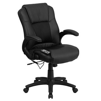 Cool Massaging Leather Executive Swivel Chair With Arms Machost Co Dining Chair Design Ideas Machostcouk