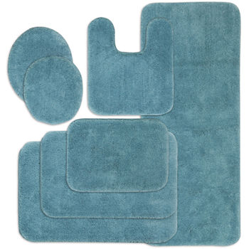 Blue Bath Rugs Bath Mats For Bed Bath Jcpenney