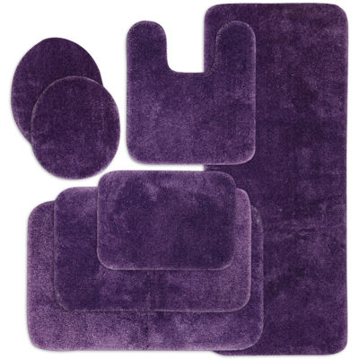 purple bath rugs bath mats for bed bath jcpenney rh jcpenney com Grey and Purple Bathroom Accessories Purple and Silver Bathroom