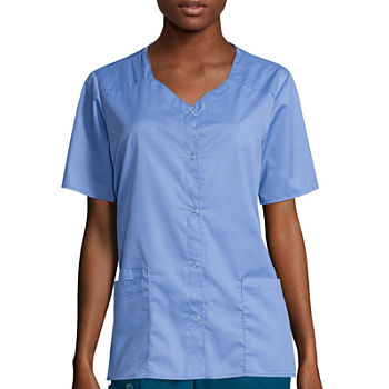 WonderWink® WonderWORK 200 Womens Short Sleeve Snap Front Top