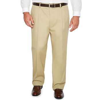 The Foundry Big & Tall Supply Co. Regular Fit Pleated Pant