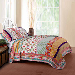 Greenland Home Fashions Thalia Bohemian Quilt Set
