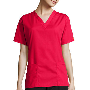 WonderWink® Origins 6016 Womens Bravo Short-Sleeve 5-Pocket V-Neck Top
