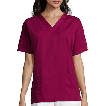 WonderWink® Origins 6016 Womens Bravo Short-Sleeve 5-Pocket V-Neck Top - Plus