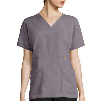 WonderWink® Origins 6056 Womens Short-Sleeve Peek-A-Boo Pocket Top - Plus