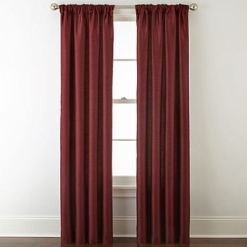 JCPenney Home Westfield Light-Filtering Rod-Pocket Single Curtain Panel