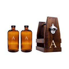 Cathy's Concepts Personalized Rustic Craft Beer Carrier Set