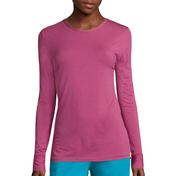WonderWink® Layers 2079 Womens Long-Sleeve Striped Tee