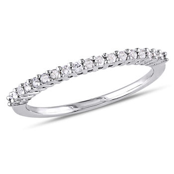 2MM 1/5 CT. T.W. Genuine White Diamond Sterling Silver Wedding Band