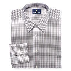 Stafford Comfort Stretch Broadcloth - Big and Tall Long Sleeve Dress Shirt