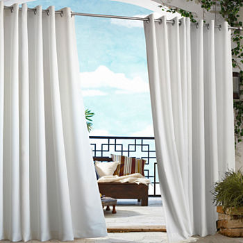 Gazebo Solid Indoor/Outdoor Grommet-Top Single Outdoor Curtain Panel