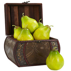 Nearly Natural Set of 6 Faux Pears