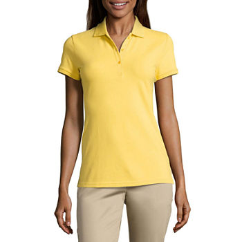 Polo Shirts Yellow Tops for Women - JCPenney 94dac6be8b8f