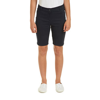 "IZOD Womens Stretch 9 1/4"" Bermuda Short-Juniors"