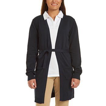 IZOD Womens Long Sleeve Cardigan-Juniors