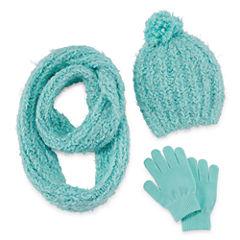 Total Girl 3-pc. Cold Weather Set-Big Kid Girls