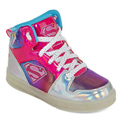 Warner Brothers Supergirl Light-Up Girls Sneakers - Little Kids/Big Kids