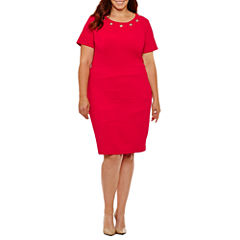 Alyx Short Sleeve Sheath Dress-Plus