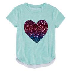 Total Girl Round Neck Short Sleeve Flutter Sleeve Blouse - Preschool Girls