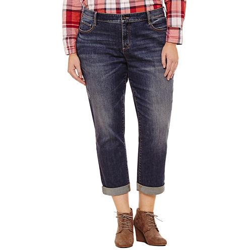 St. John's Bay® Boyfriend Jeans - Plus
