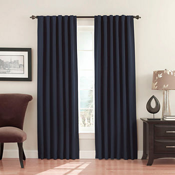 Eclipse Fresno Blackout Rod-Pocket Single Curtain Panel