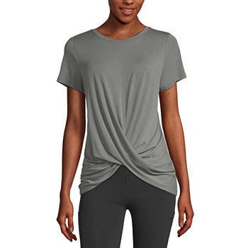 Xersion Womens Crew Neck Short Sleeve T-Shirt