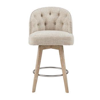Brilliant Madison Park Boyle Counter Height Upholstered Swivel Bar Stool Uwap Interior Chair Design Uwaporg