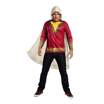 Shazam Adult Mens Xl Top W/Cape Mens Costume Mens Costume