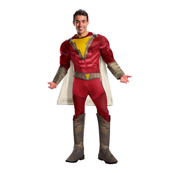 Shazam Deluxe Adult 3-pc. DC Comics Dress Up Costume Mens
