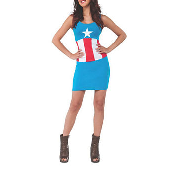 Marvel Marvel Avengers Captain America Adult Tank Dress Womens Costume Womens Costume