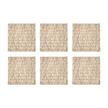 Design Imports Square Woven Paper 6-pc. Placemat