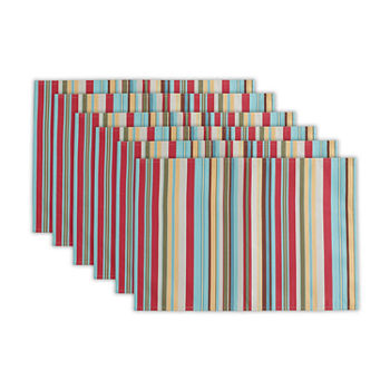 Design Imports Summer Stripe 6-pc. Placemat