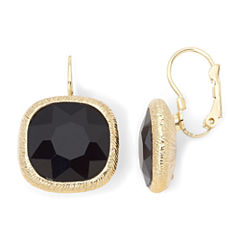 Monet® Jet Black Drop Earrings