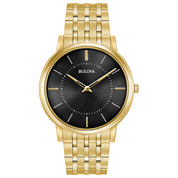 Bulova Classic Mens Gold Tone Stainless Steel Bracelet Watch - 97a127