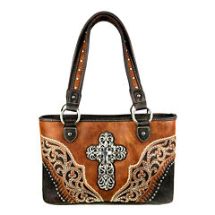 Montana West Grace Cross Tote Bag