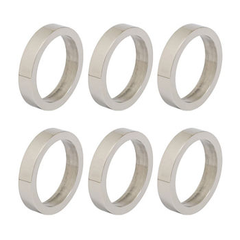 Design Imports Silver Circle 6-pc. Napkin Ring