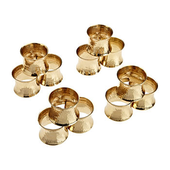 Design Imports Hammered 12-pc. Napkin Ring