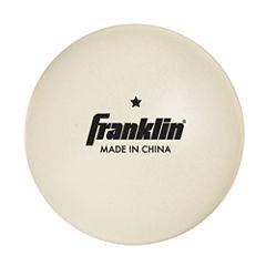Franklin Sports 40Mm 1 Star White Table Tennis Balls