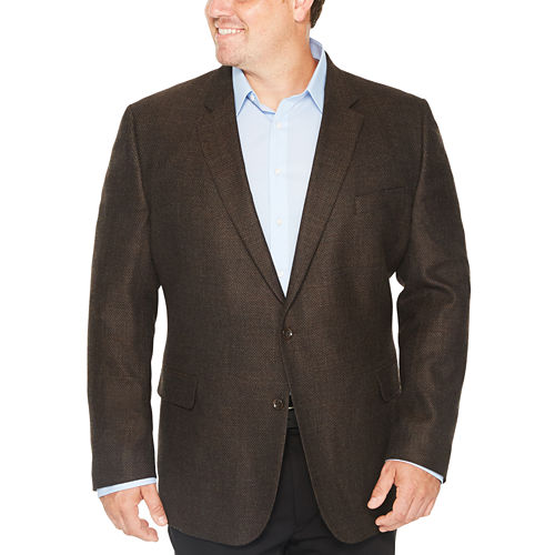 Stafford Merino Wool Sport Coats-Big and Tall
