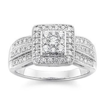 and groupon latest princess ring cttw gg rings deals emerald cut bridal tri stone engagement clearance
