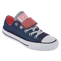 Converse Chuck Taylor All Star Double  Tongue Shine And Shimmer Girls Sneakers - Little Kids/Big Kids