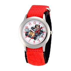 Disney Mickey Mouse Boys Red Strap Watch-Wds000184