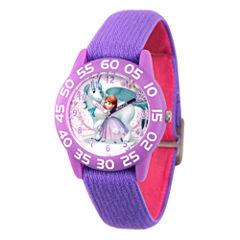 Disney Princess Sofia The First Girls Purple Strap Watch-Wds000267