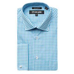 Stacy Adams Long Sleeve Woven Gingham Dress Shirt