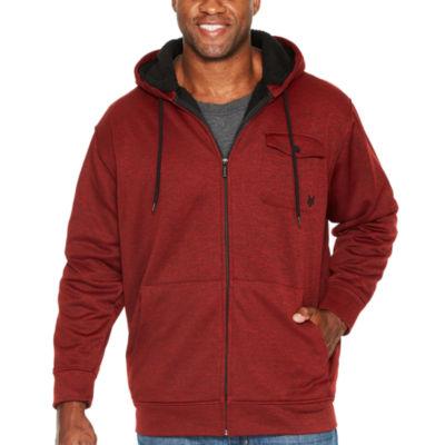 Men's tall hooded flannel jacket