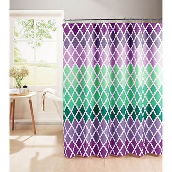 Purple And Teal Shower Curtain. Few Left  Pink Purple Shower Curtain Sets Curtains for Bed Bath JCPenney