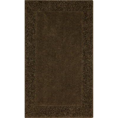 jcpenney home shag border washable rectangular rug