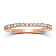 1/7 CT. T.W. Diamond 10K Rose Gold Band Ring