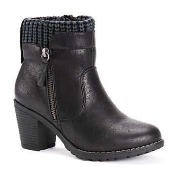 Muk Luks Womens Gail Block Heel Dress Boots