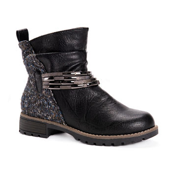 Muk Luks Womens Tisha Block Heel Dress Boots